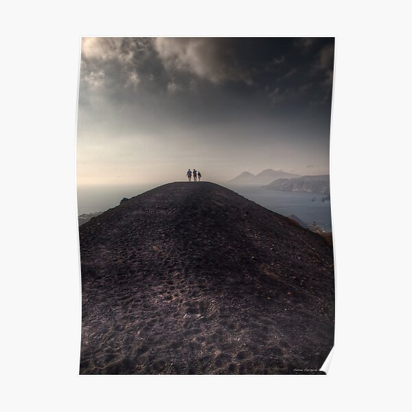 Walking on the border of the crater Poster