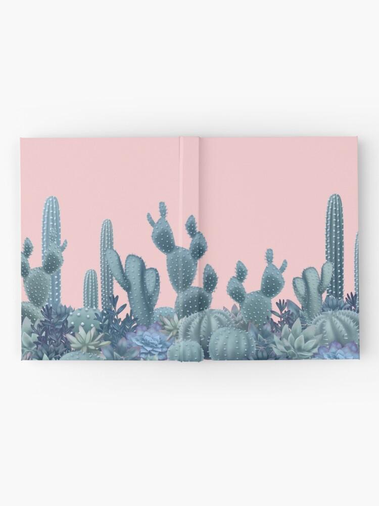 Alternate view of Serenity Cacti on Rose Quartz Background Hardcover Journal