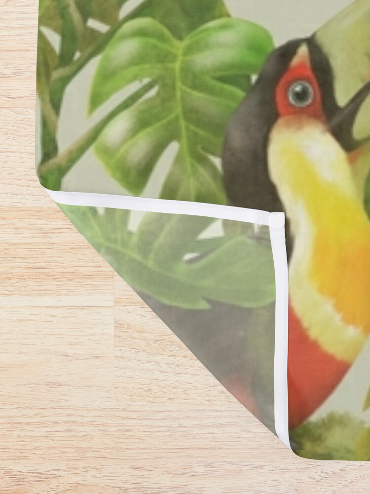 Alternate view of Toucans and bromeliads - canvas background Shower Curtain