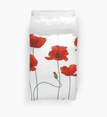 Poppy Stems. Duvet Cover
