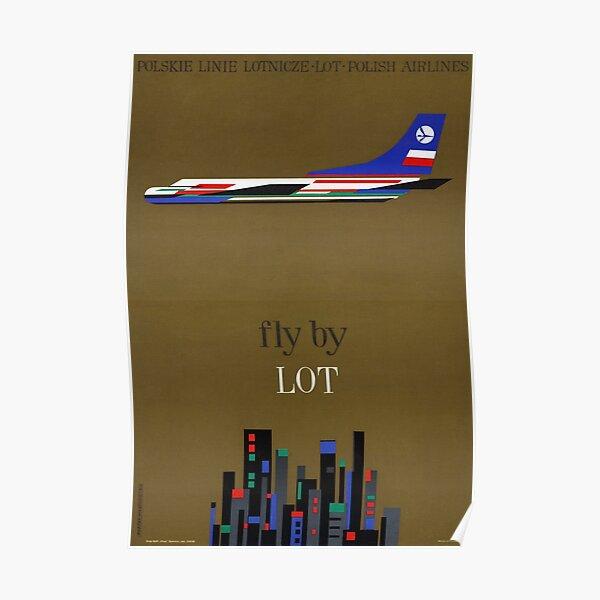 Poland Vintage Airline Travel Poster Restored Poster