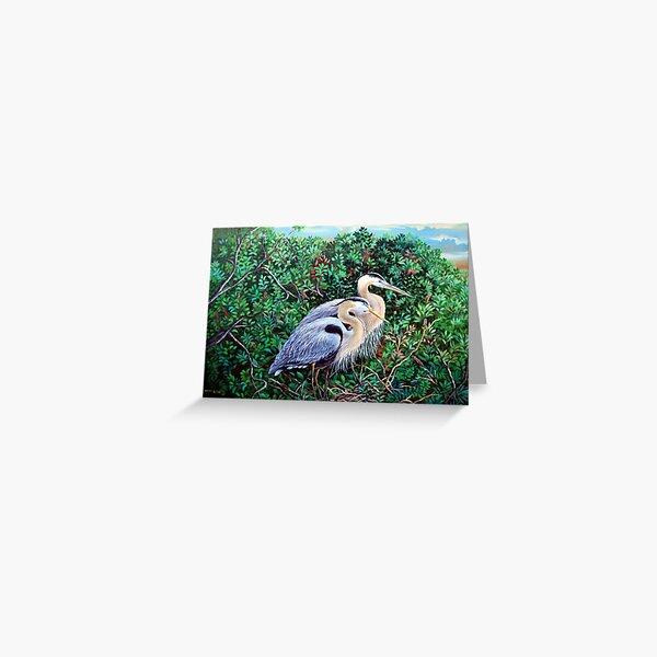 Morning Refuge-Great Blue Heron Greeting Card