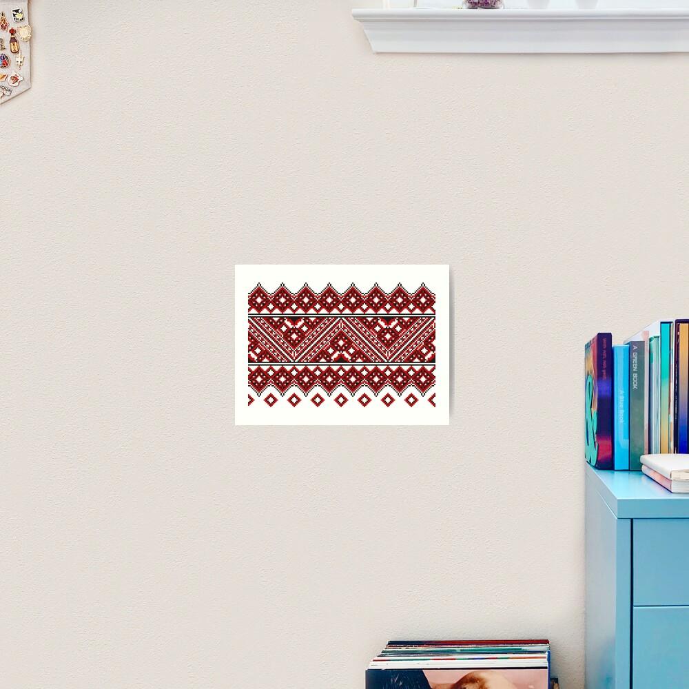 #Ukrainian #Embroidery, #CrossStitch, #Pattern Art Print