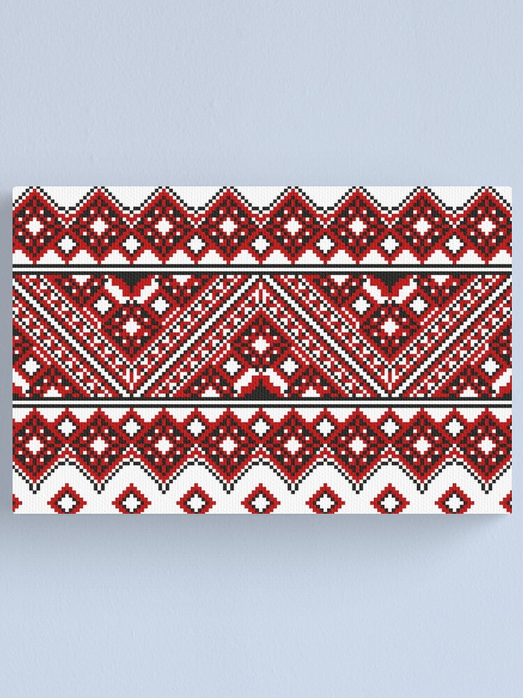 Alternate view of #Ukrainian #Embroidery, #CrossStitch, #Pattern Canvas Print