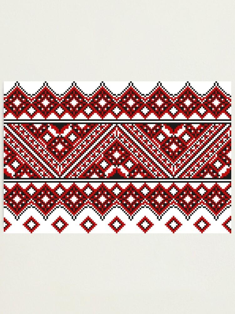 Alternate view of #Ukrainian #Embroidery, #CrossStitch, #Pattern Photographic Print