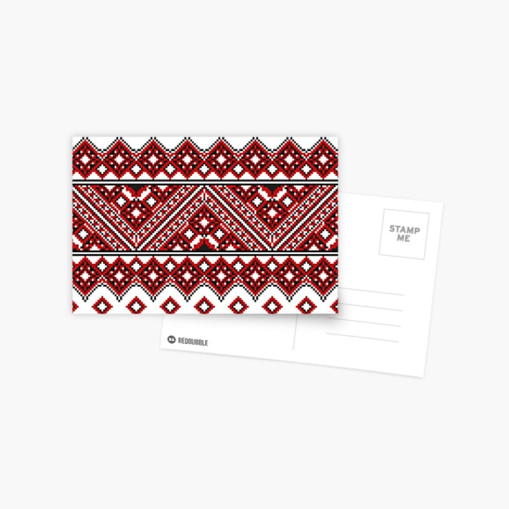 #Ukrainian #Embroidery, #CrossStitch, #Pattern Postcard