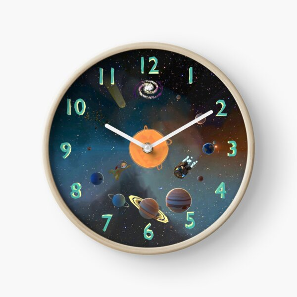 The Alex Astronaut Solar System Planets Clock Clock