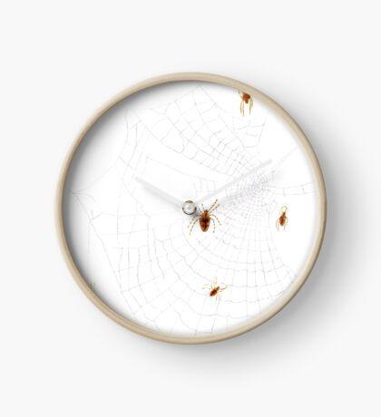 Spiders on the Web Clock