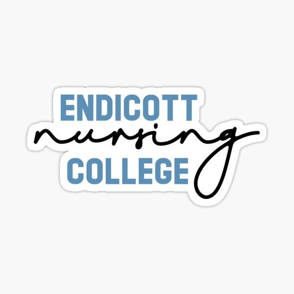 Endicott College Nursing Cursive Sticker
