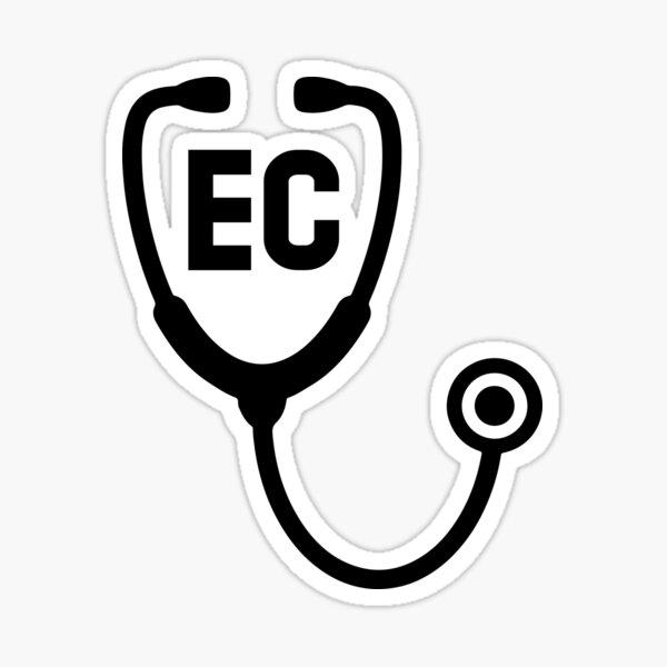 Endicott College Nursing Stethoscope Sticker