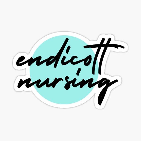 Endicott College Nursing Blue Sticker