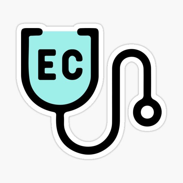 Endicott College Nursing Stethoscope Blue Sticker