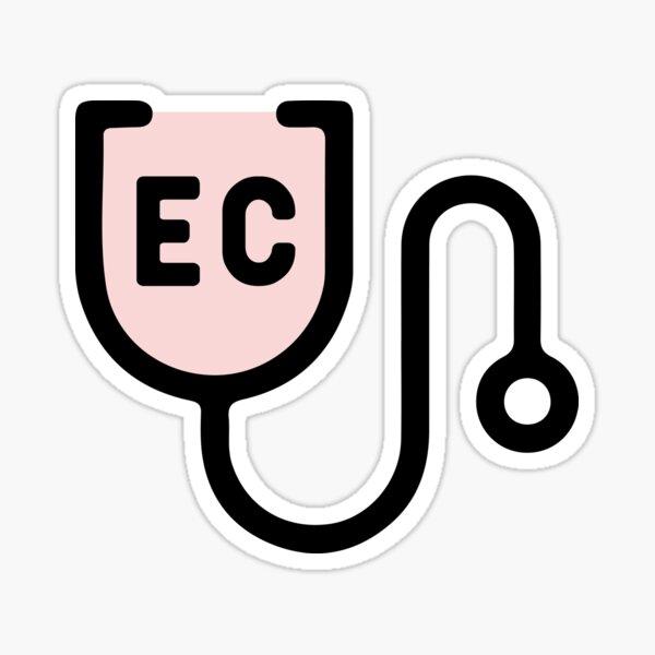 Endicott College Nursing Stethoscope Pink Sticker