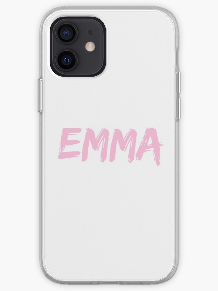 Prénom Emma Personnalisé Rose | Coque iPhone