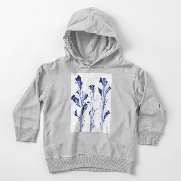 Painted Flowers In Blue Toddler Pullover Hoodie