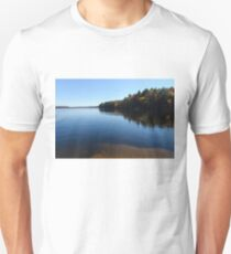 A Blue Autumn Afternoon - Algonquin Lake Serenity Unisex T-Shirt