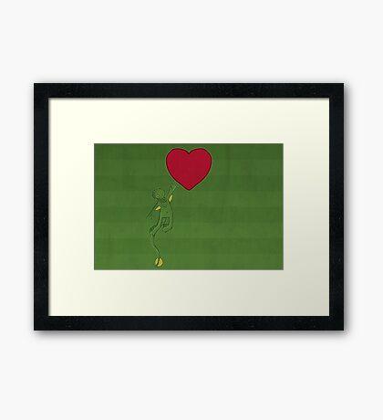 The Love of Cthulhu Framed Print