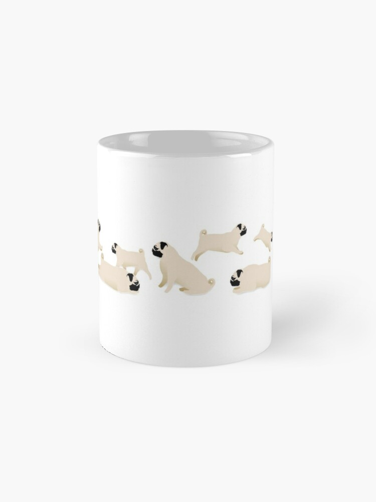 Alternate view of Playful Pugs Mug
