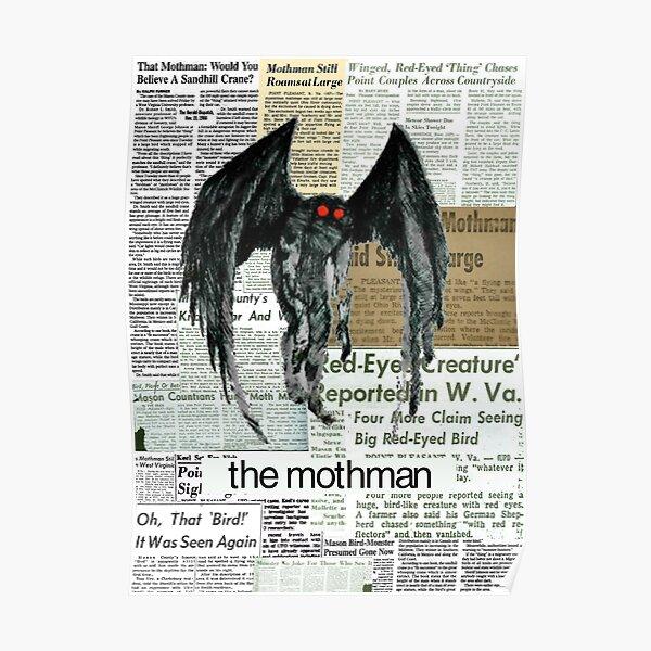 mothman newspaper articles Poster