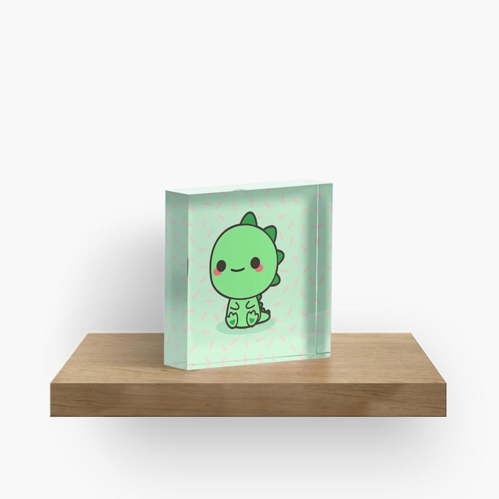 Kawaii Dinosaur Acrylic Block