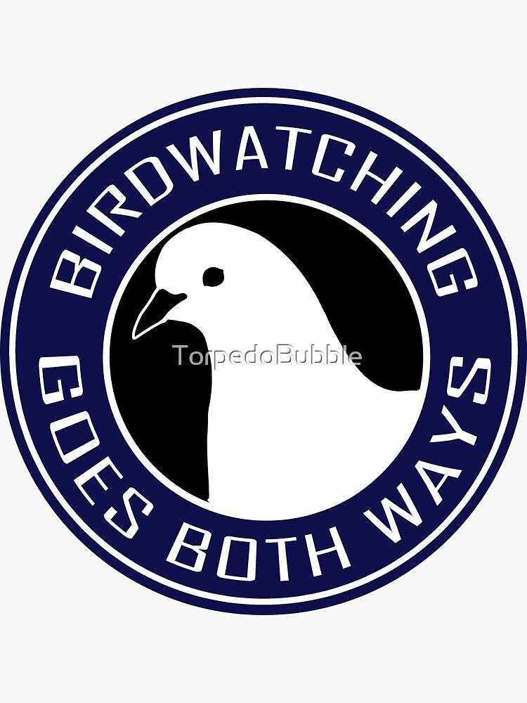 Birdwatching goes both ways blue by TorpedoBubble