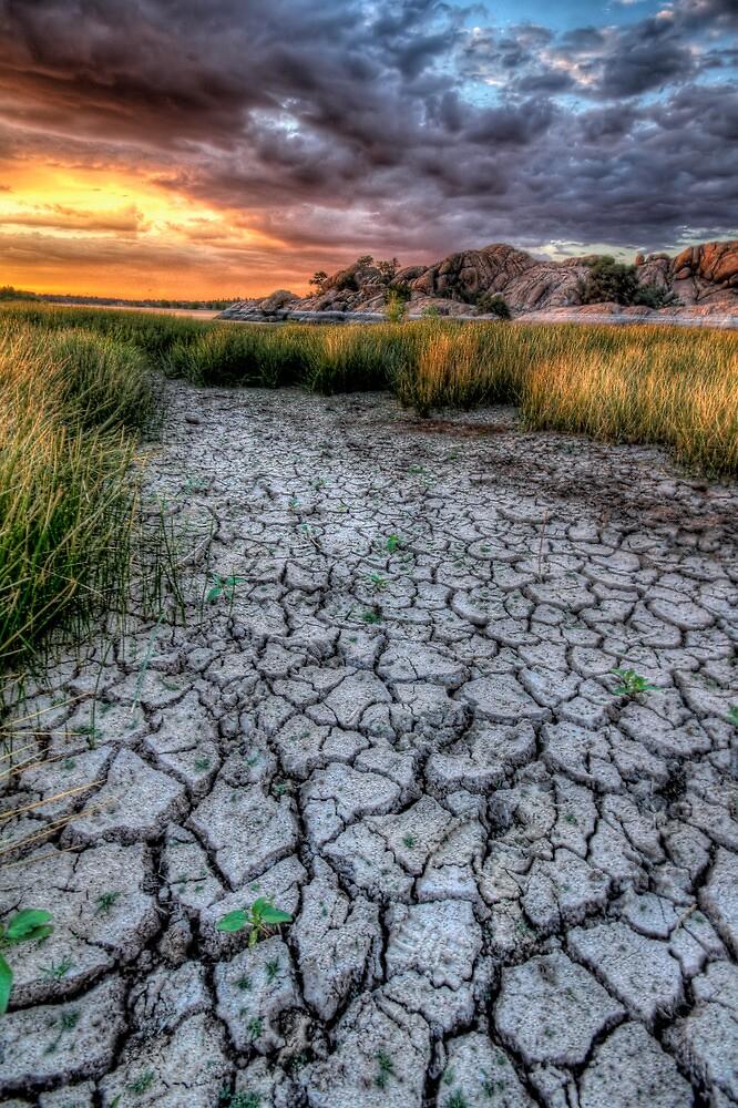 Cracked Sunset by Bob Larson