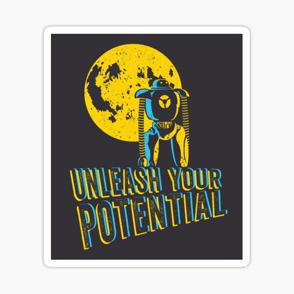 Unleash your potential Pop!_os Sticker