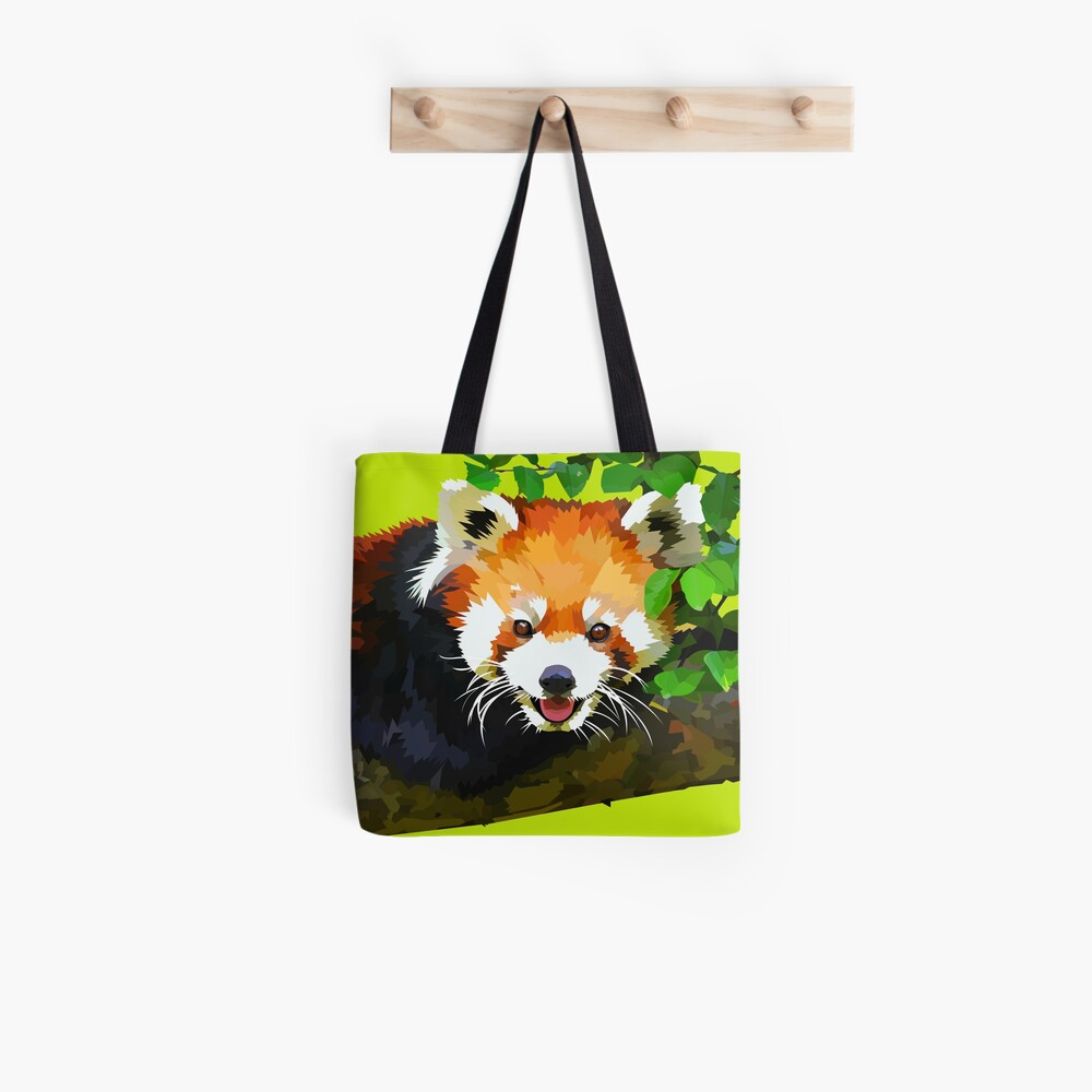 Happy Red panda in a tree Tote Bag