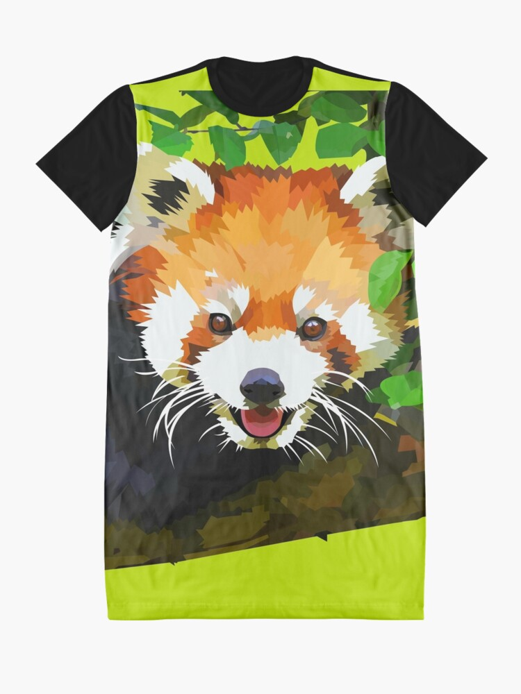 Alternate view of Happy Red panda in a tree Graphic T-Shirt Dress