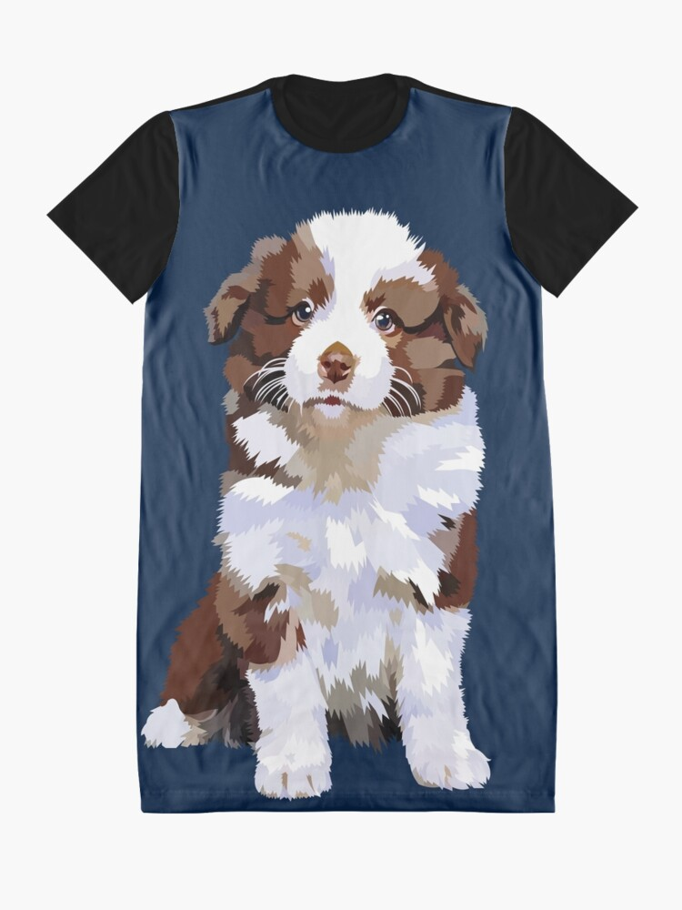 Alternate view of Adorable puppy Graphic T-Shirt Dress