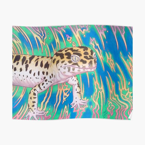 Leopard Gecko Whirlwind Poster