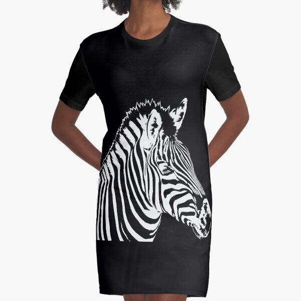 Zebra lines Graphic T-Shirt Dress