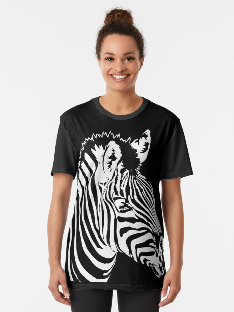 Alternate view of Zebra lines Graphic T-Shirt