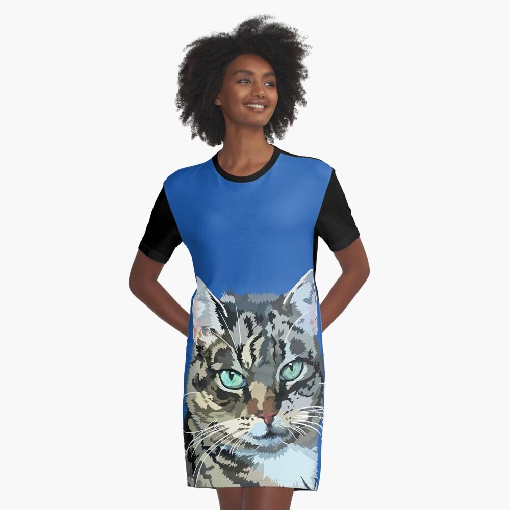 Pretty little kitty Graphic T-Shirt Dress