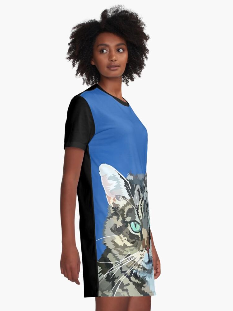 Alternate view of Pretty little kitty Graphic T-Shirt Dress