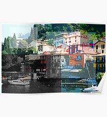 varenna, Italy collage Poster