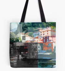 varenna, Italy collage Tote Bag