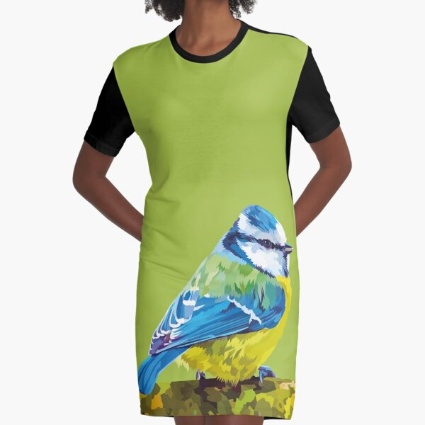 Cute little bird Graphic T-Shirt Dress