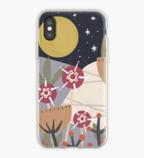 Star Field Meadow Floral Illustration iPhone Case