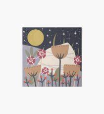 Star Field Meadow Floral Illustration Art Board Print