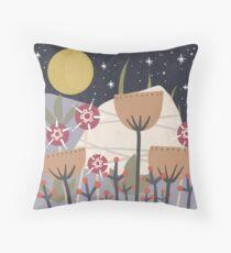 Star Field Meadow Floral Illustration Floor Pillow