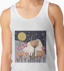 Star Field Meadow Floral Illustration Tank Top