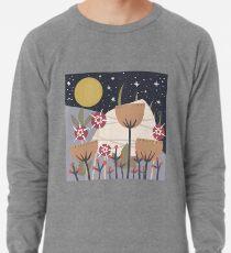 Star Field Meadow Floral Illustration Lightweight Sweatshirt