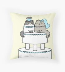 Kitty Cat Wedding Throw Pillow