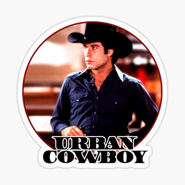 Urban Cowboy Vintage Image Sticker