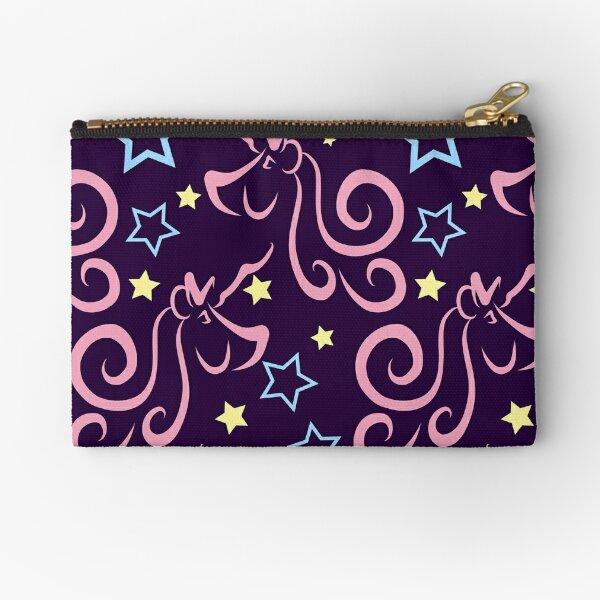 Purple Unicorns and Stars in Pink, Yellow & Blue Pattern Zipper Pouch