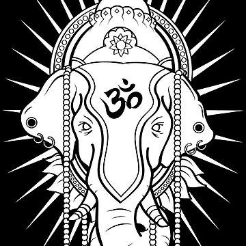 Fierce Ganesha by LoganFickArt