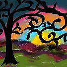 Liebesvögel auf einem Baum von artbycaseylh