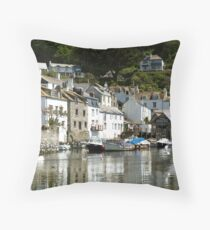 Polperro Reflections Throw Pillow