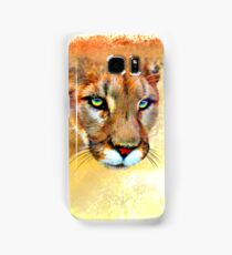 Mountain Lion Oil Pastel Samsung Galaxy Case/Skin